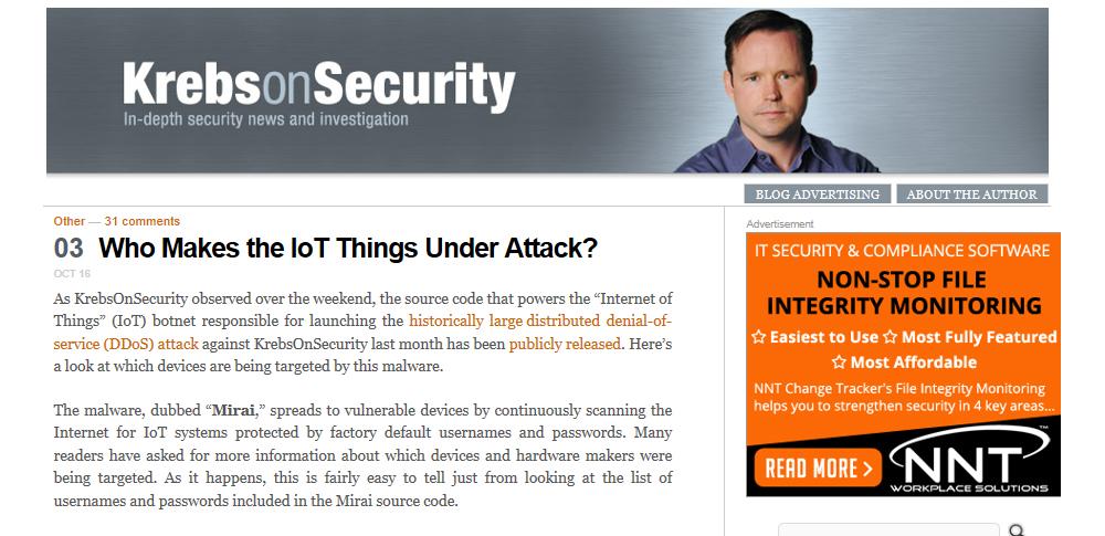 史上最大級のDDoS攻撃に使われたマルウェア「Mirai」IoTデバイスを悪用