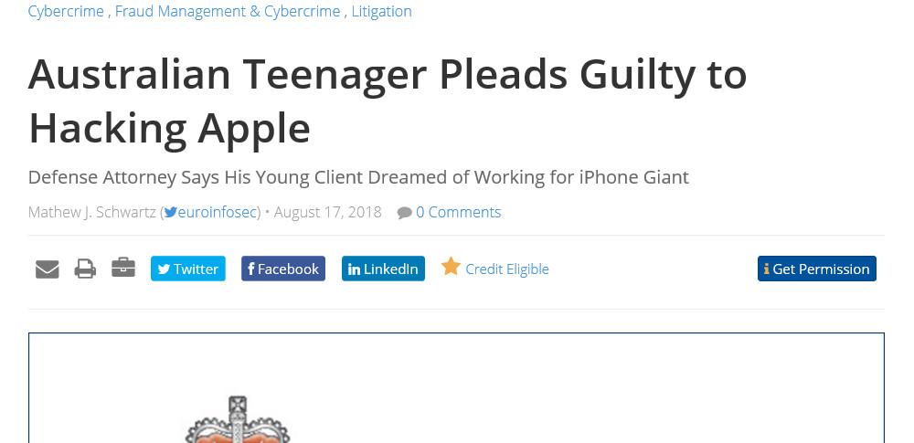 16才少年がAppleのサーバーへハッキング「Appleで働きたい」