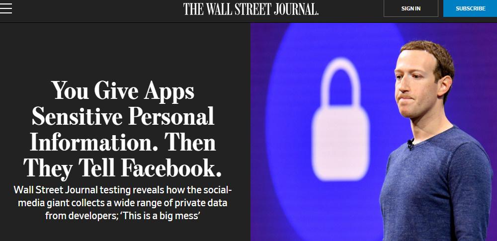 ユーザーに無断でFacebookに個人情報送信、健康関連アプリなど規約違反か